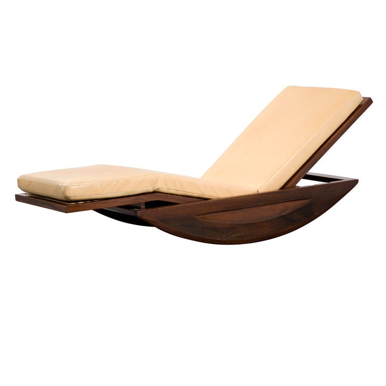 Chaise Lounge Rocking Chair By Joaquim Tenreiro Brazil 1947 For Sale At 1stdibs