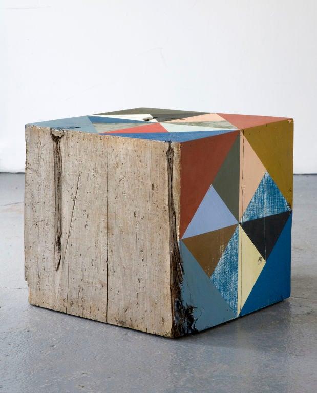 American Extra Large Block Scuplture By Serena Mitnik-miller