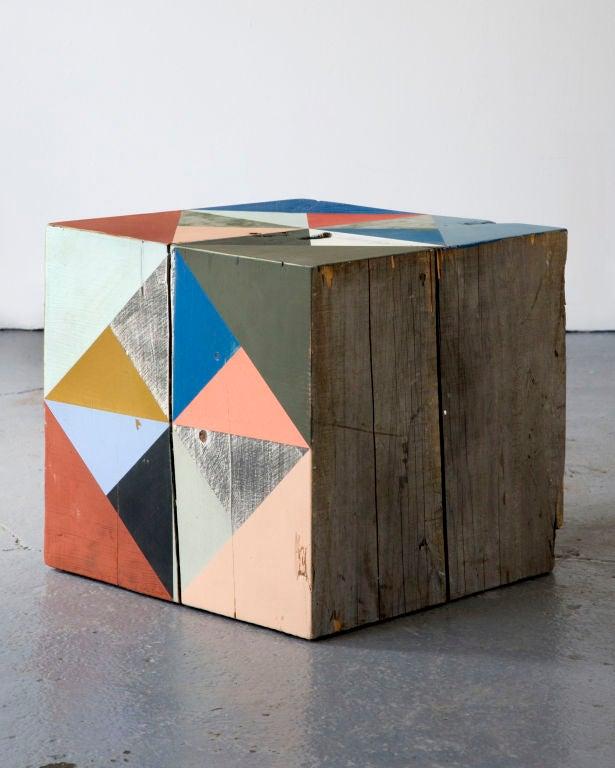 Contemporary Extra Large Block Scuplture By Serena Mitnik-miller