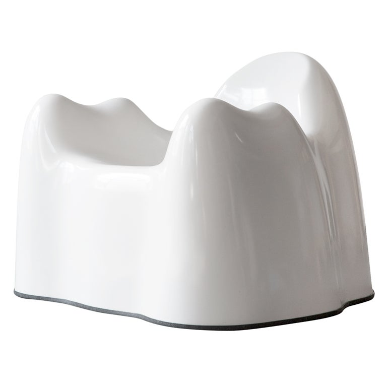 Molar Group White Armchair By Wendell Castle USA Circa 1969 1