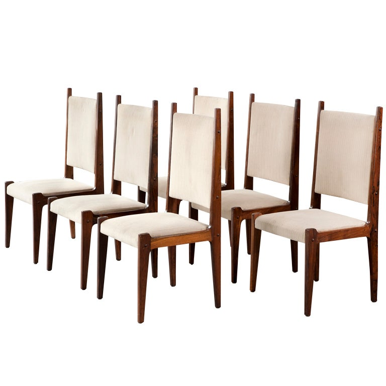 Set of Six Chairs by Sergio Rodrigues, Brazil, 1970s