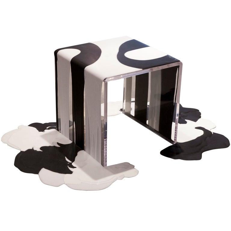 after lynda unique pour side table for kelly behun studio at 1stdibs. Black Bedroom Furniture Sets. Home Design Ideas