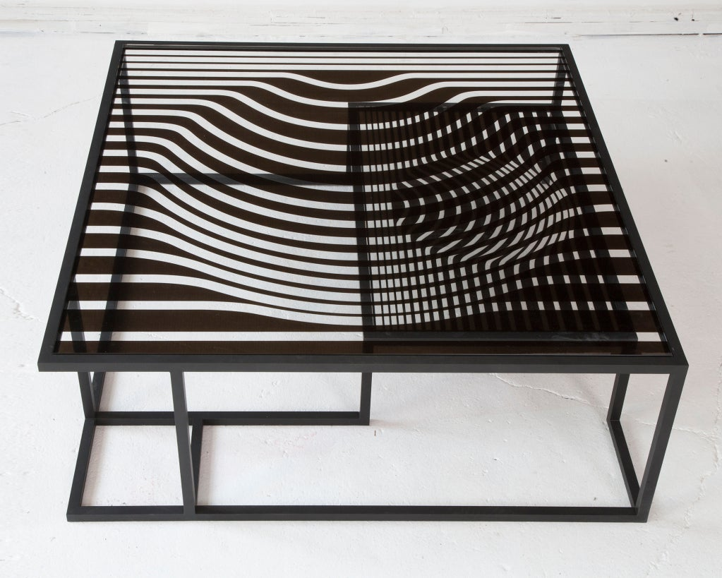 After victor op art cocktail table for kelly behun for Kelly behun studio