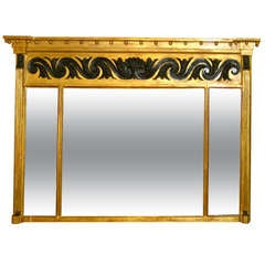 English 18th Century Regency Gilt Overmantel Mirror