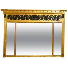 English 18th Century Regency Gilt Overmantel Mirror