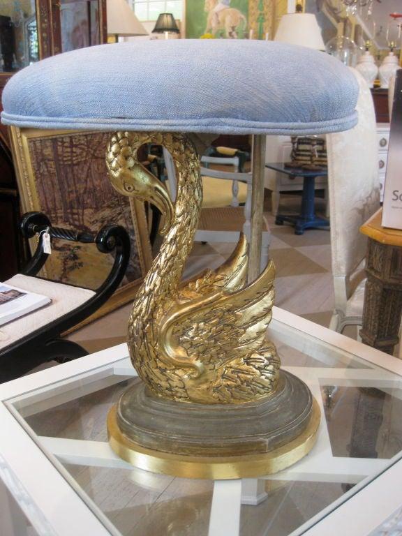 French 19th Century Swan Stool 4