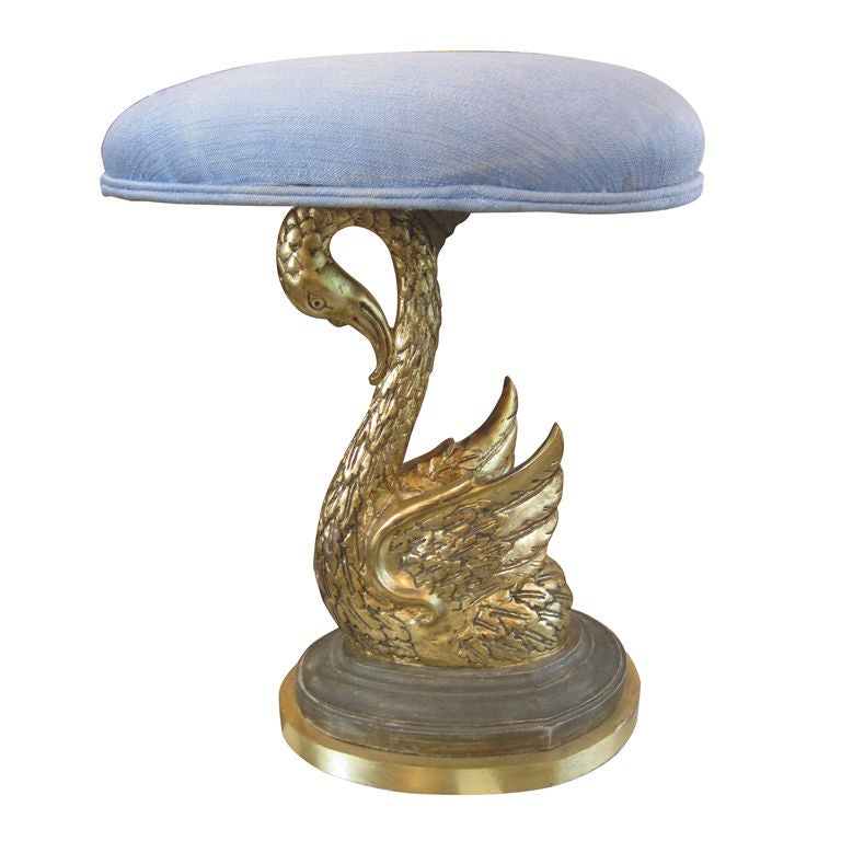 French 19th Century Swan Stool