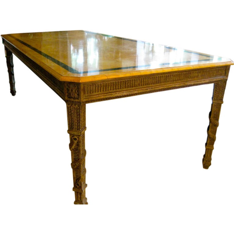 Italian faux marble top hall or dining table at 1stdibs - Marble dining table prices ...