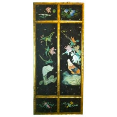 Chinese Painted Porcelain Panel with Birds