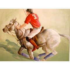 American Painting of a Polo Player