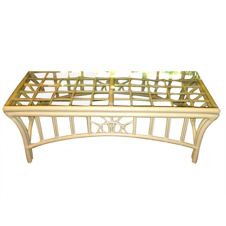 American rattan cocktail table at 1stdibs for American rattan furniture manufacturer