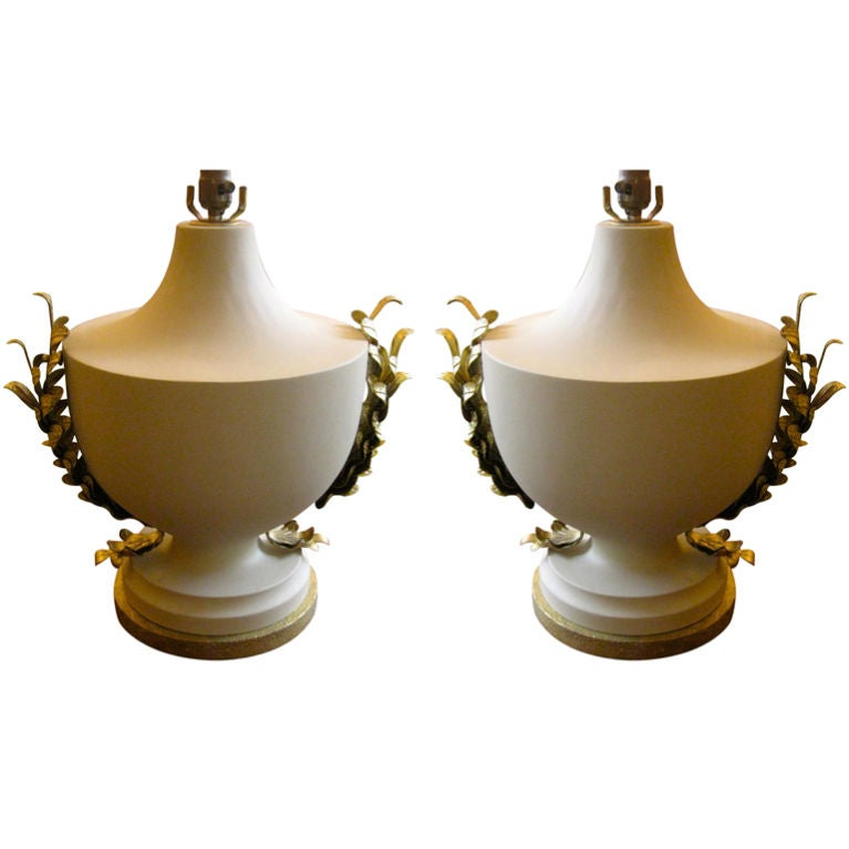 Pair of 20th Century Urns Lamps