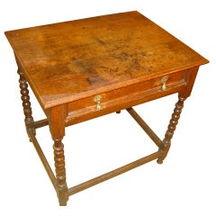 18th Century English Oak Side Table