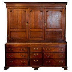 Anitque English Oak Cupboard