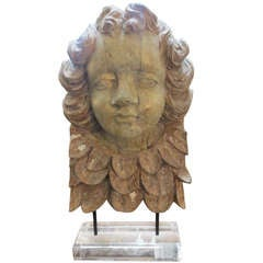 19th C. Italian Carving on Lucite Base