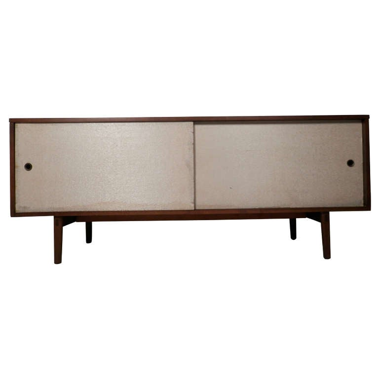 Mid-Century Modern Sliding Door Winchendon Cabinet by Paul McCobb