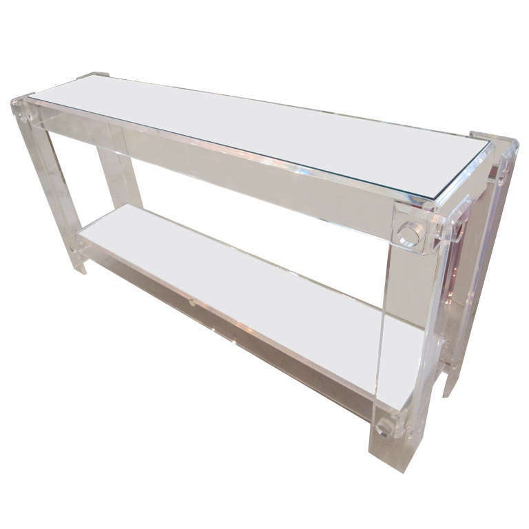 Lucite Console Table At 1stdibs
