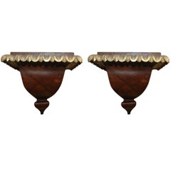 Pair of 18th Century English Painted and Gilt Wall Brackets