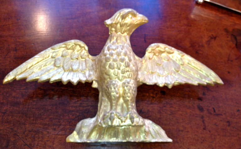 19th century American water gilt gold hand-carved eagle.