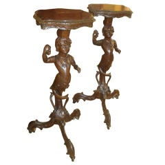 Pair of 19th Century French Napoleon III Candle Stands