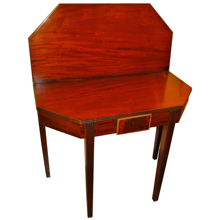19th Century English Mahogany Card Table