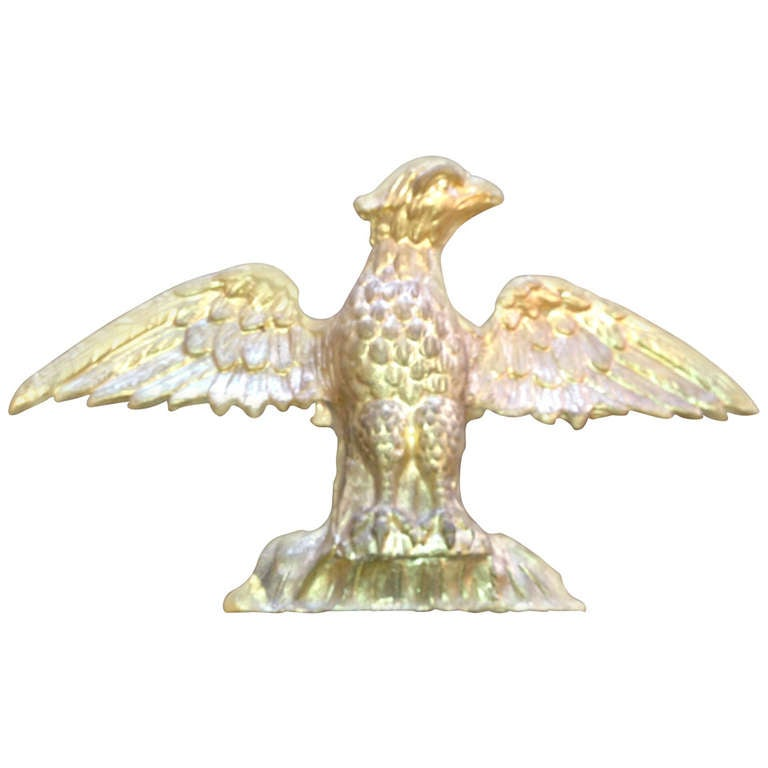 19th Century American Water Gilt Gold Hand Carved Eagle For Sale At 1stdibs
