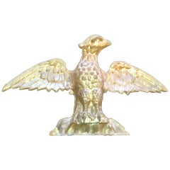 19th Century American Water Gilt Gold Hand-Carved Eagle