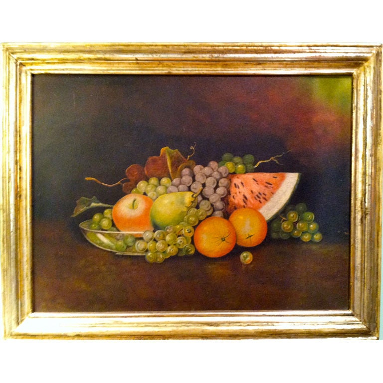 19th Century American Still Life of Fruit