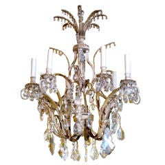 19th Century Venetian Tole and Crystal Chandelier
