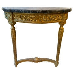 19th Century French Regency Marble and Gilt Console