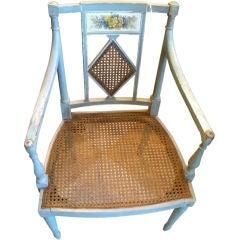 19th Century Swedish Regency Painted Armchair