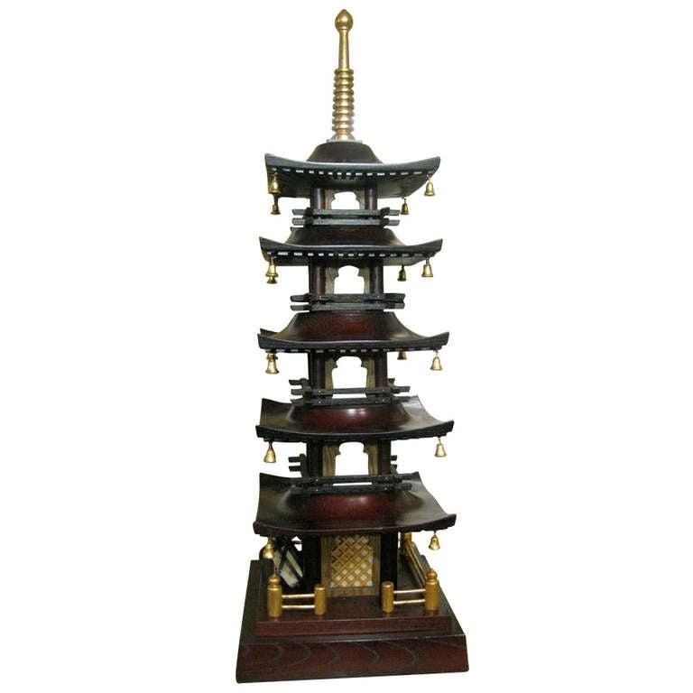 19th Century English Pagoda Lamp