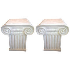 Pair of Column Style End Tables