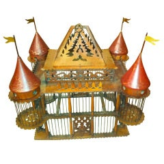 19th Century English Victorian Mahogany Bird Cage