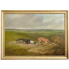 19th Century English Painting of Dogs by James Barenger