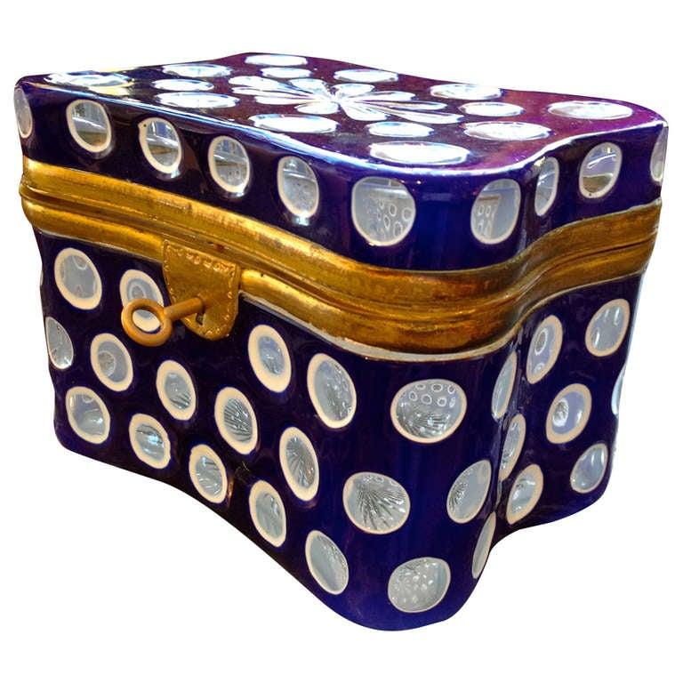 19th Century French Glass Box