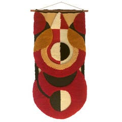 Mid-Century Hand-hooked Wool Tapestry by Unknown Californian Artist
