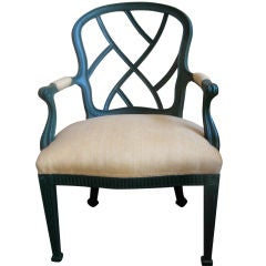 English 19th Century Chippendale Style Armchair