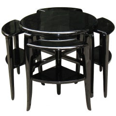 Rare French Art Deco Nest of Tables