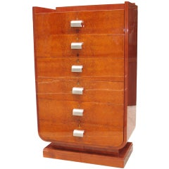 Rare Shaped High Quality French Art Deco Chest