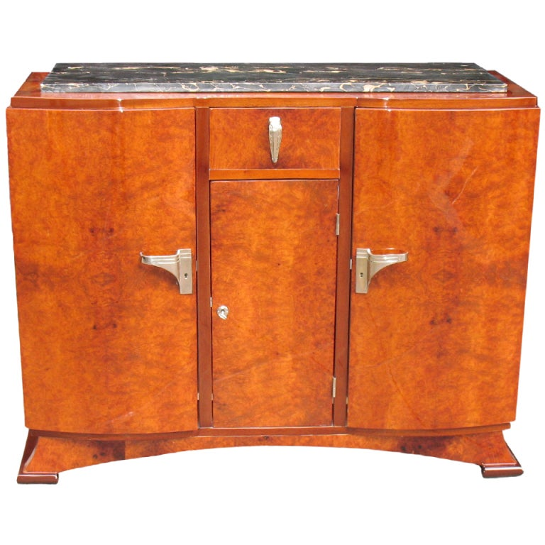 exceptional deco buffet bar at 1stdibs
