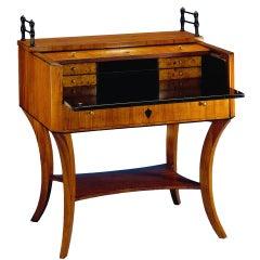 1820s Modern Design Biedermeier Roll Top Desk