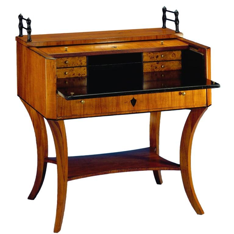 A unique biedermeier roll top desk at 1stdibs for Unusual writing desks