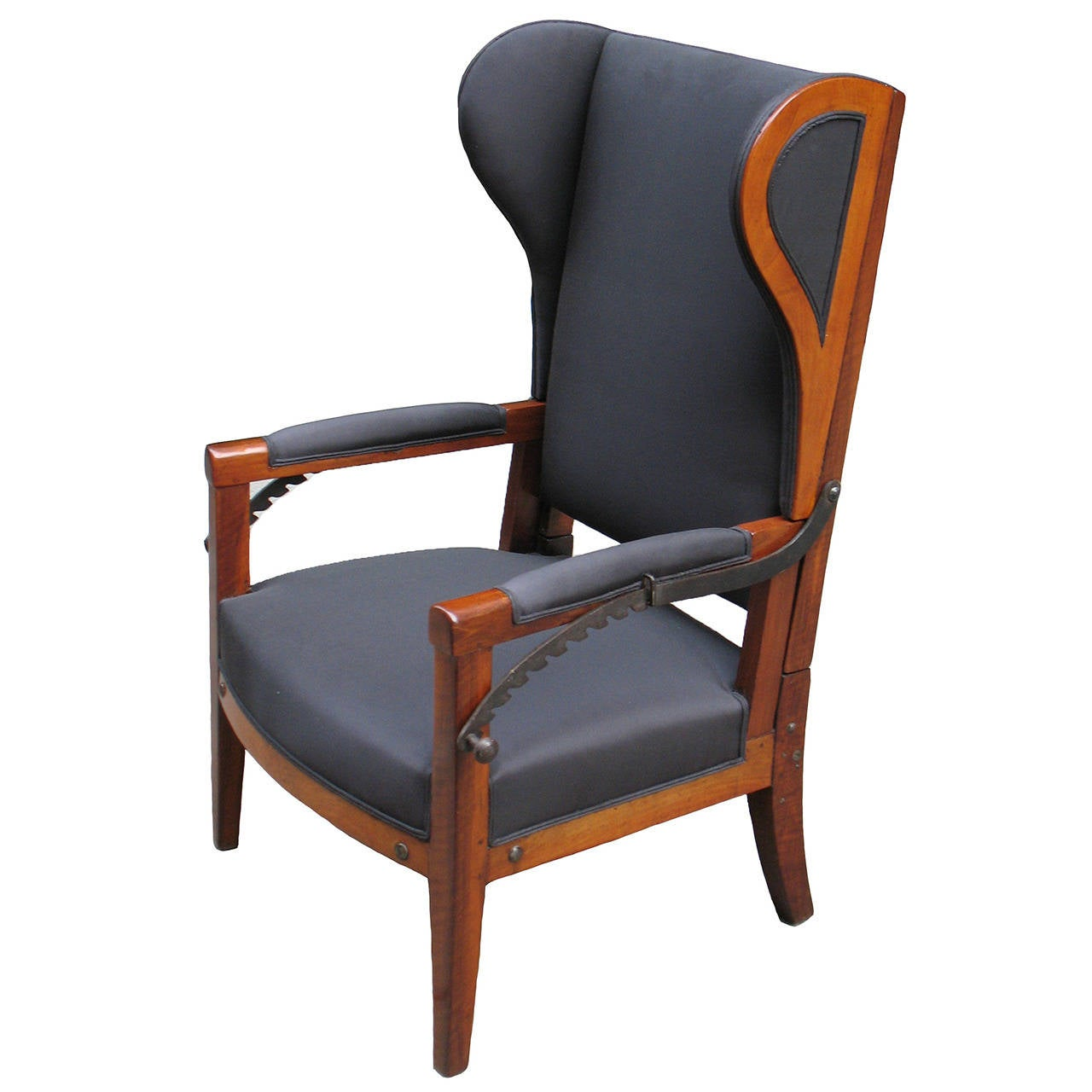 1960s Missoni Wingback Chair At 1stdibs: Very Special Biedermeier Reclining Wing Chair For Sale At