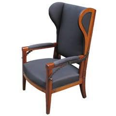 Very Special Biedermeier Reclining Wing Chair