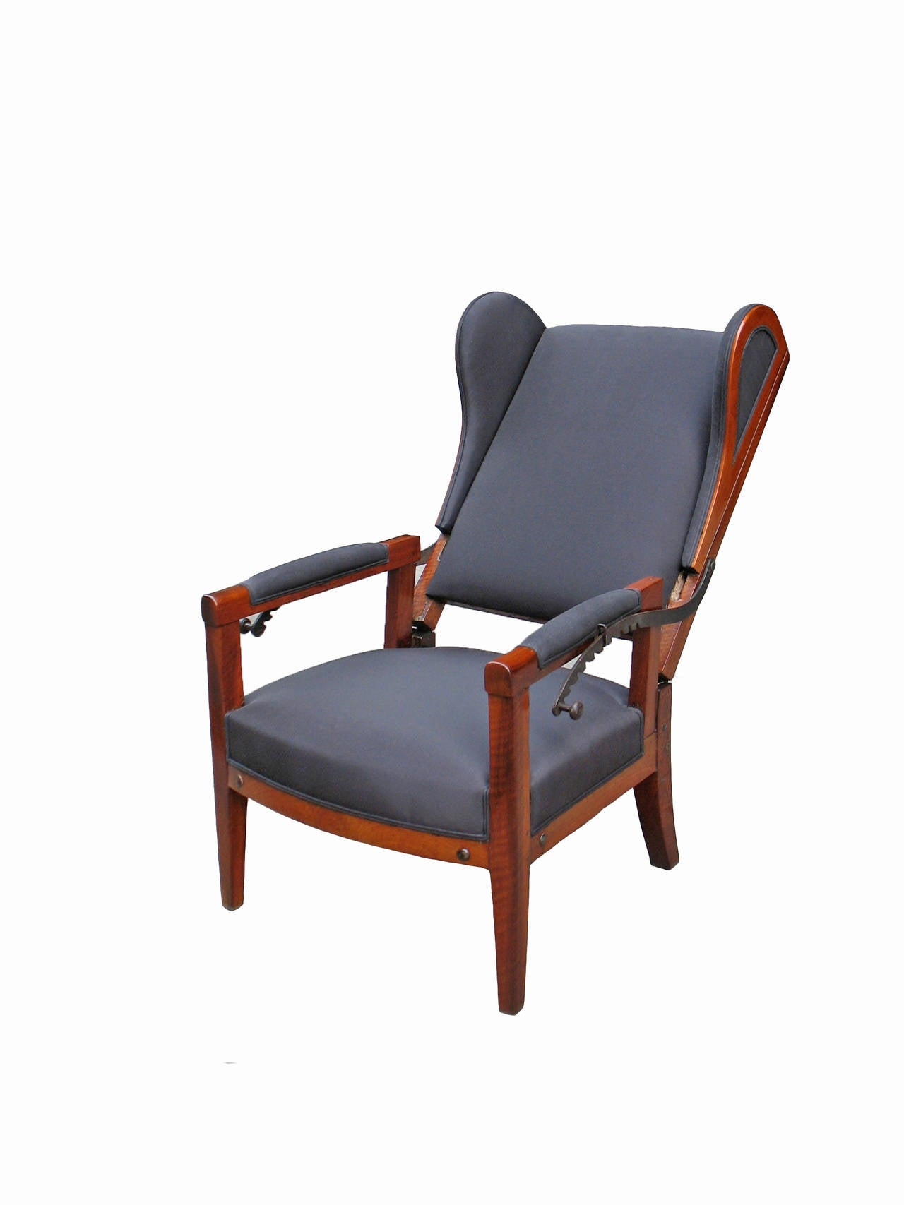 Very Special Biedermeier Reclining Wing Chair For Sale at