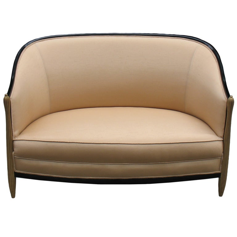 French Art Deco Settee In The Style Of Paul Follot At 1stdibs