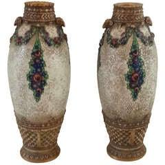 Pair of Art Deco Secessionist Vases