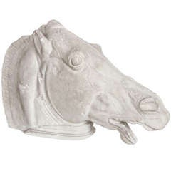 Italian Plaster Horse Head