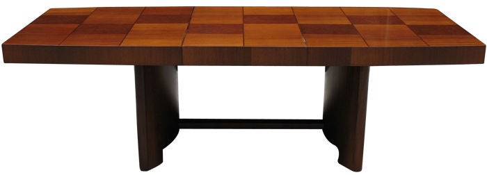 Large Art Deco Dining Extension Table By Gilbert Rohde At